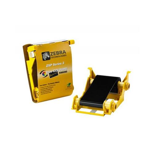 Zebra ix Series high capacity monochrome ribbon for ZXP Series 3 Black, 2000 IMAGES | 800033-301 | 800033-301