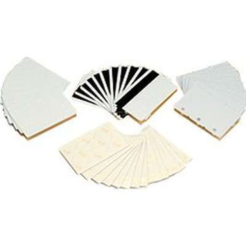 Zebra white composite cards, 30 mil, World Globe (500 cards) | 104524-120 | 104524-120