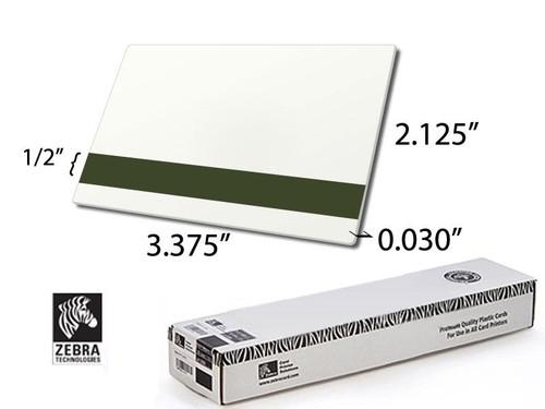 Zebra Premier PVC white card, 30 mil, LoCo Mag Stripe 104523-112 | 104523-112