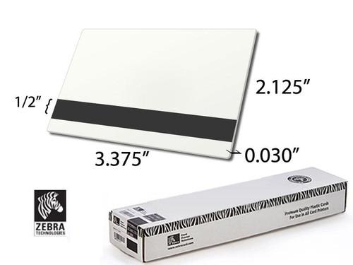 104523-113   Zebra Premier PVC white card - 30 mil, HiCo Mag Stripe | 104523-113