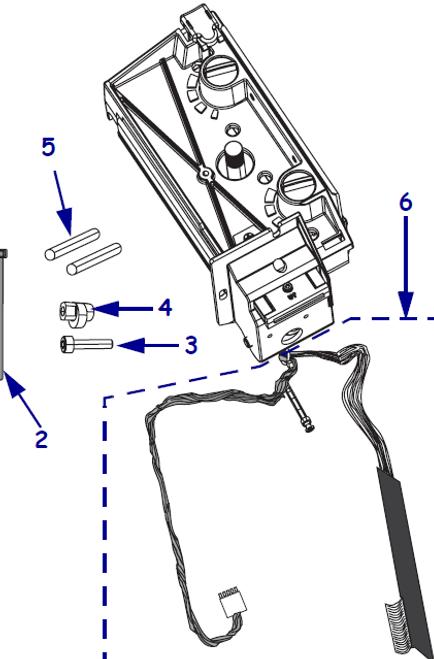 Kit Printhead Mechanism & 300 dpi Printhead ZM600   79814M