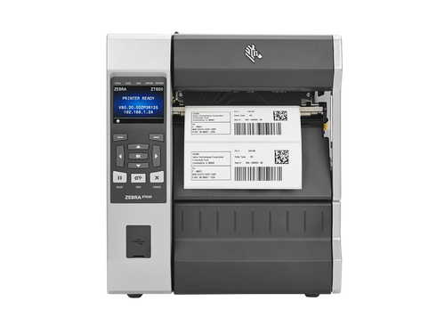 ZT620 Industrial Printer, 6'', 300 dpi, US Cord, Serial, USB, Gigabit Ethernet, Bluetooth 4.0, USB Host, Tear, Color, ZPL |  ZT62063-T010100Z