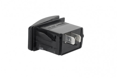 Rocker switch (momentary ON/OFF) - 2 contacts (input and output) - 7160-0540