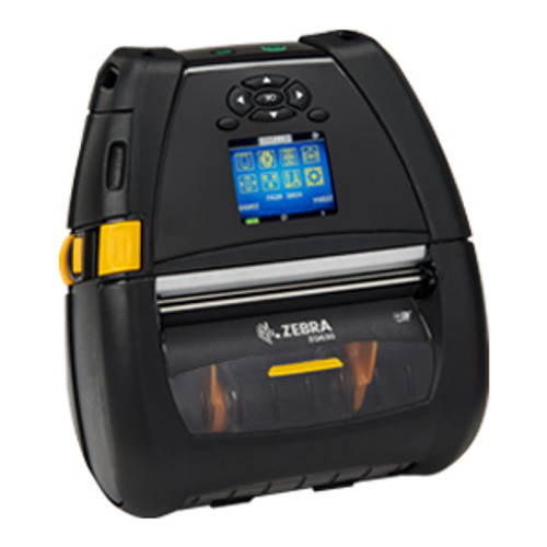 "ZQ630 Mobile Printer 4""/104mm; English/Latin fonts, Dual 802.11AC / BT4.x, Linerless platen, 1.375"" core, Group 0, Belt clip  - ZQ63-AUWB000-00"