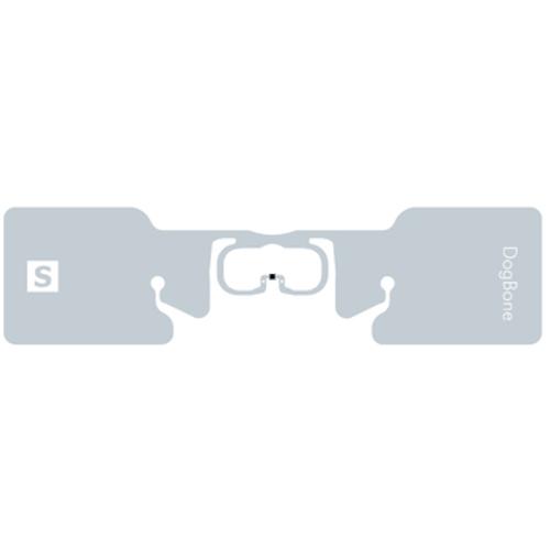 10026641 - Label, RFID , 3.819x1.063in (97x27mm); DogBone, Opaque Matt, 3in (76.2mm) core, 1000/roll, 1/box