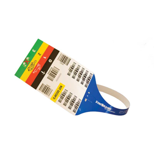 SB-TRIAGE - Wristband/Labels, Polyester, 3 x 17.5in, StatBand Triage, Adhesive Closure, Adult, Serialized, 500/box