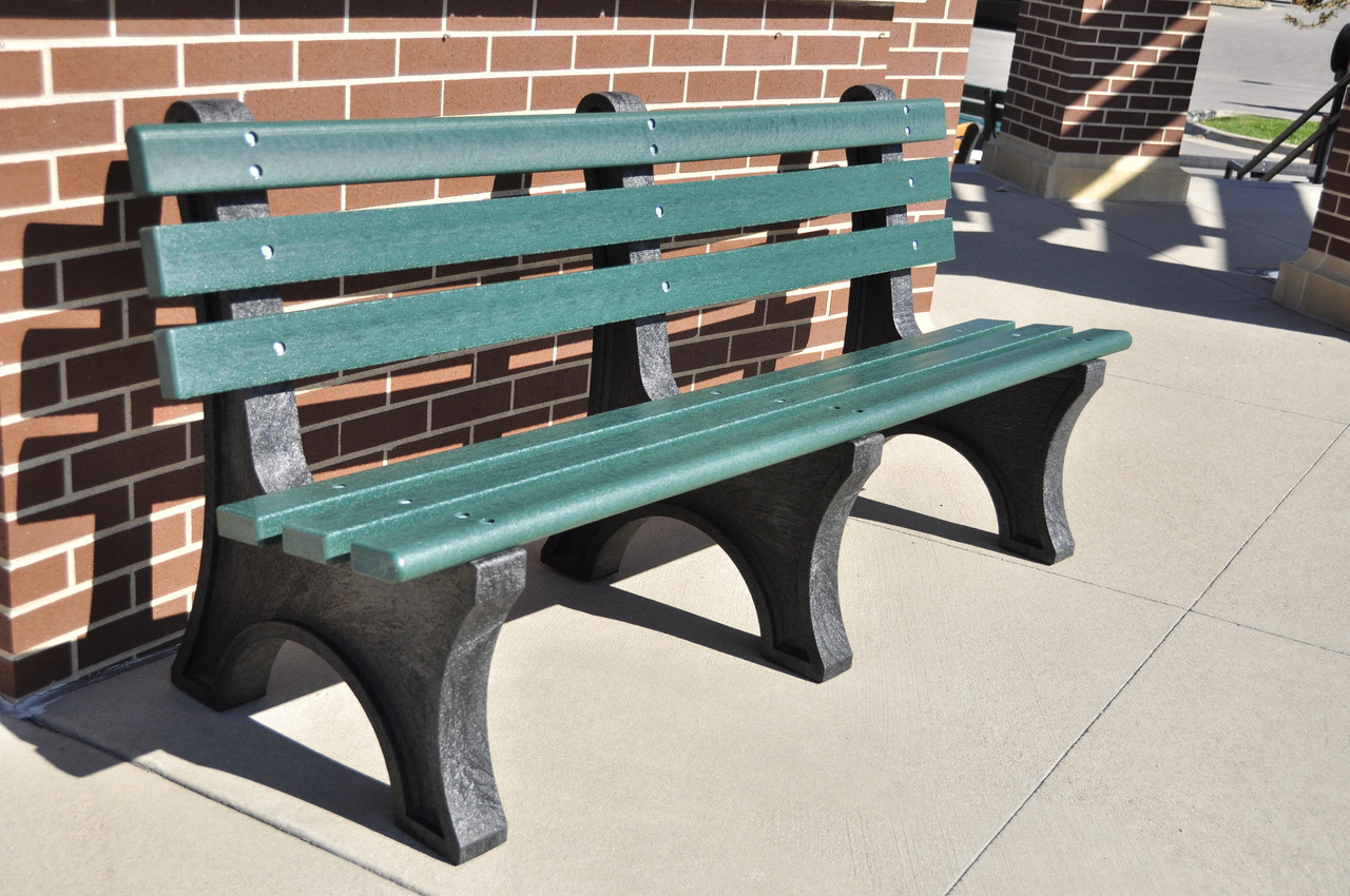 Central Park Recycled Plastic Outdoor And Park Bench 6 Tennis