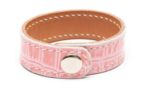 Prestige Pink Crocodile Bracelet