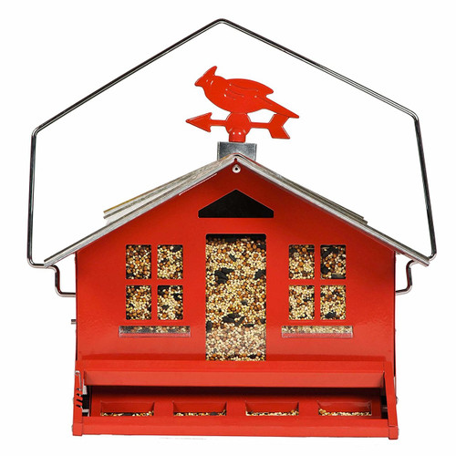 Squirrel Be Gone II Country House Bird Feeder with Weathervane