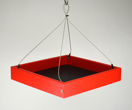 Red Hanging Platform Feeder