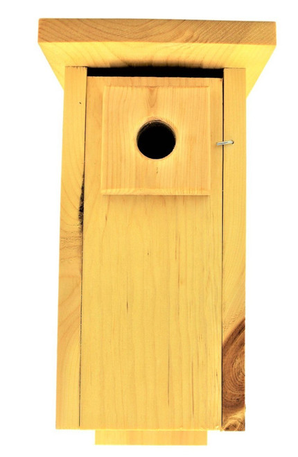 Handmade Downy Woodpecker House