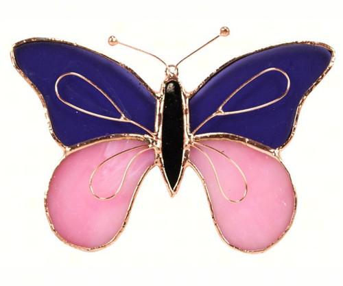 Purple & Pink Butterfly Sun Catcher