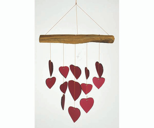 Red Heart Driftwood Chime