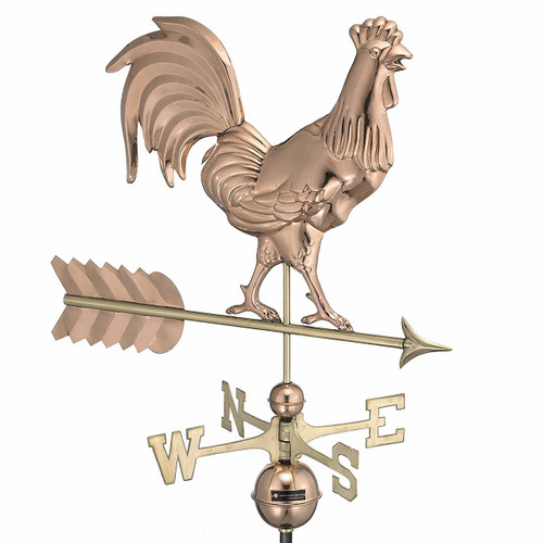 Smithsonian Rooster Weathervane, Polished Copper