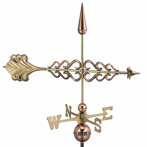 Smithsonian Arrow Weathervane, Polished Copper