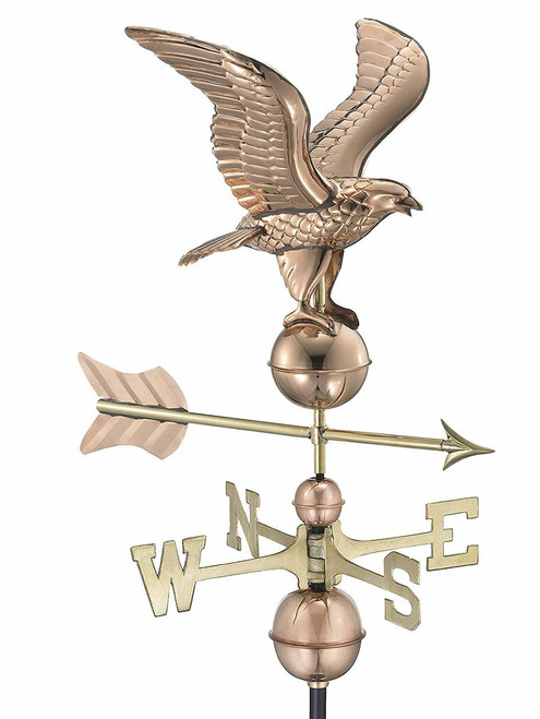 American Eagle Weathervane, Polished Copper