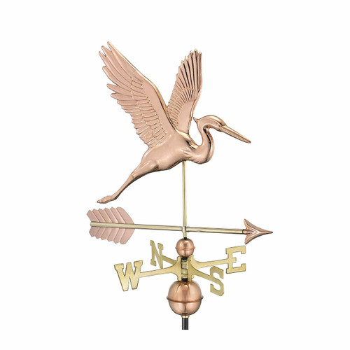 Graceful Blue Heron with Arrow Weathervane