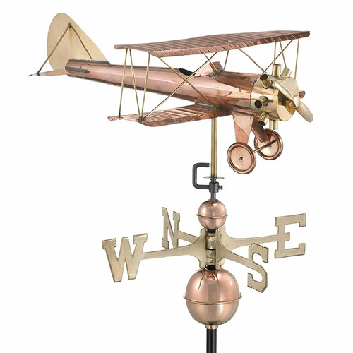 Biplane Weathervane With Arrow