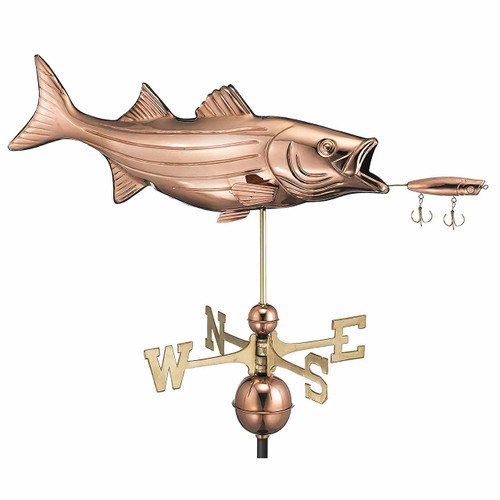 Bass with Lure Weathervane