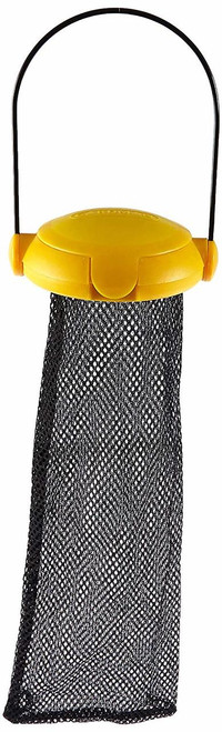 Yellow Flip Top Thistle Feeder Mesh Bag