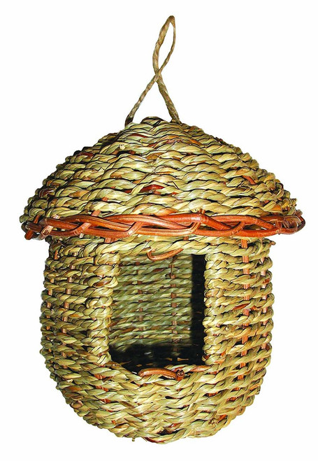 Woven Rope Acorn Roosting Pocket Birdhouse