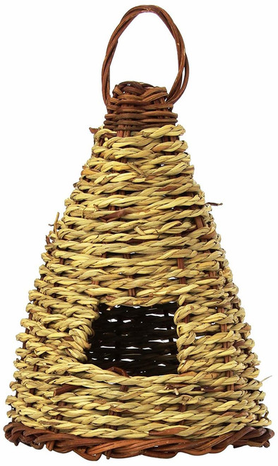 Woven Rope Hive Roosting Pocket Birdhouse