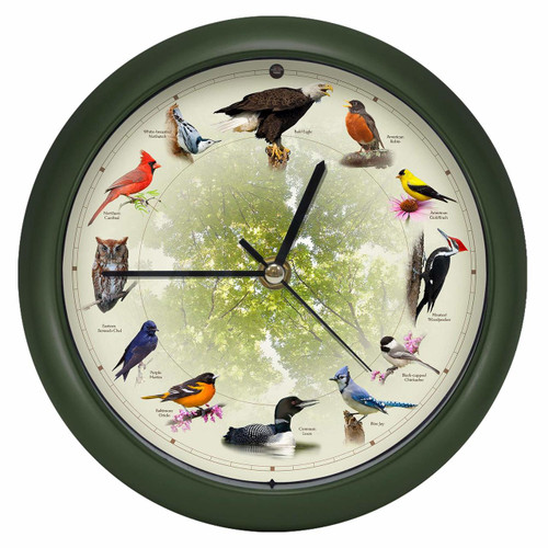 Limited Edition 20th Anniversary Singing Bird Clock, 8 Inch
