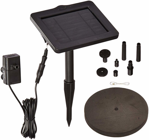 SunJet 150 Solar-Powered Water Pump and Solar Panel for Bird Baths