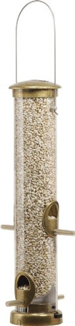 Quick-Clean Brass Seed Tube Feeder, Medium