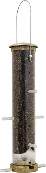 Quick-Clean Brass Thistle Tube Feeder, Medium