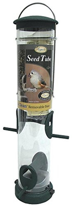 Spruce Quick Clean Tube Seed Feeder, Medium