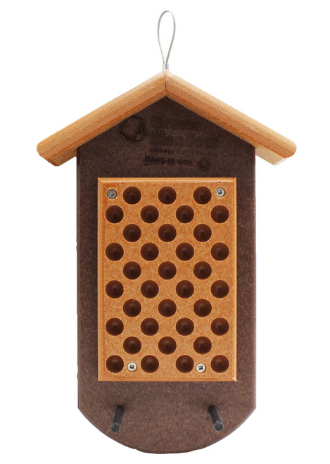 Double Peanut Butter Feeder, Bright Red and Gray
