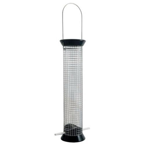 New Generation Peanut Metal Feeder, 13 Inch, Black