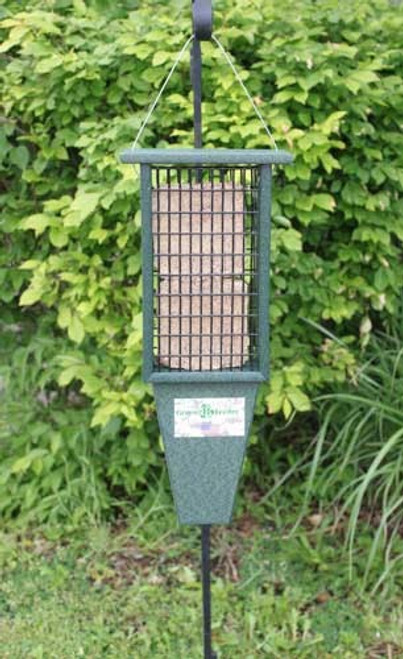 Double Suet Feeder Green