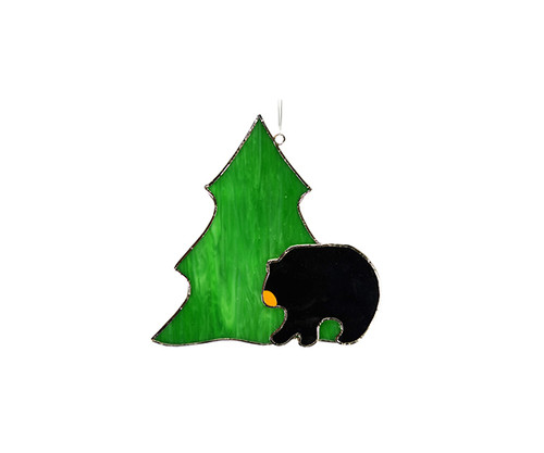 Black Bear with Tree Sun Catcher