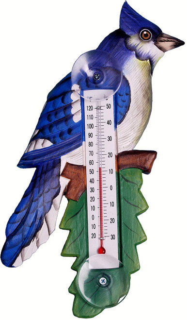 Small Blue Jay Thermometer