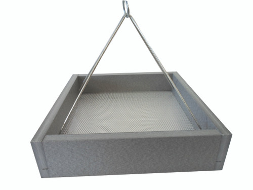 Green Solutions Hanging Platform Feeder, Small, Gray