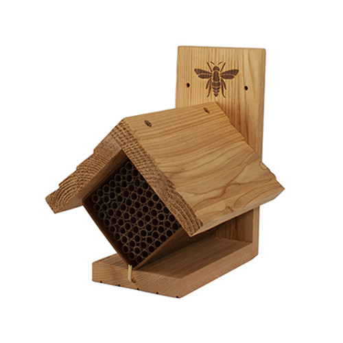 Diamond Western Cedar Mason Bee Shelter