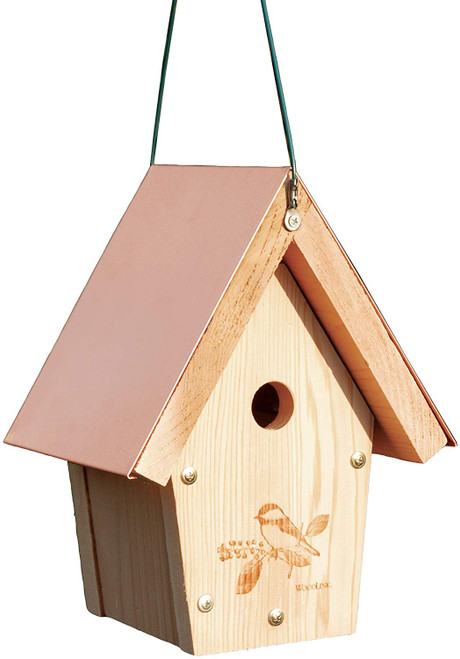 Coppertop Chickadee Wren Bird House