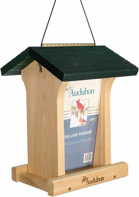 Audubon Deluxe Honey Stained Feeder