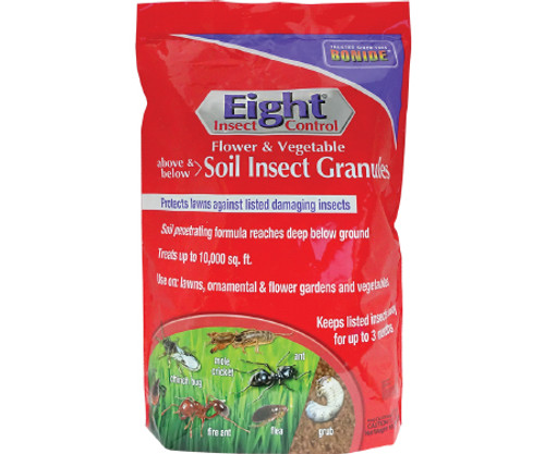Eight Flower and Vegetable Soil Insect Granules (10 lb.)