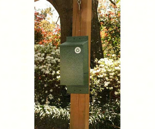 4-Chambered Eco-Friendly Bat House, Green