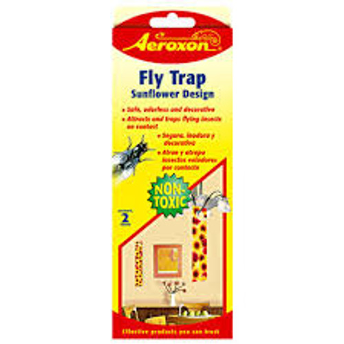 Fly Trap w/ Sunflower Design, 2-PK