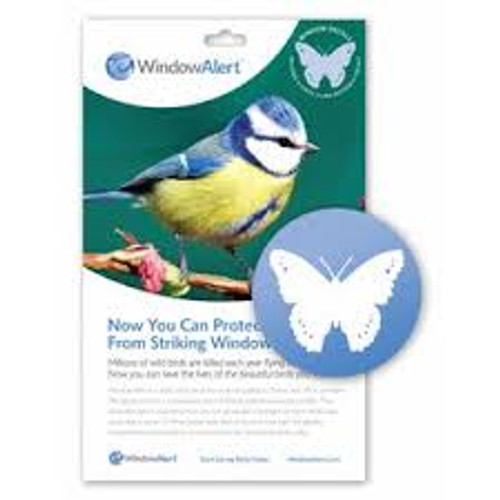 Butterfly Transparent Bird Strike Deterrent, 4PK