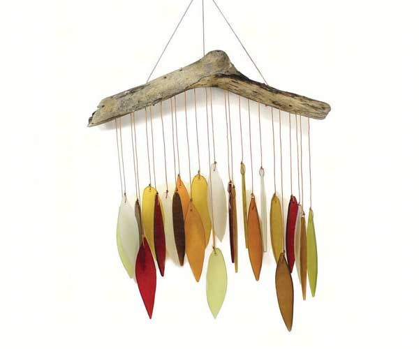 Autumn Leaves & Driftwood Glass Chime