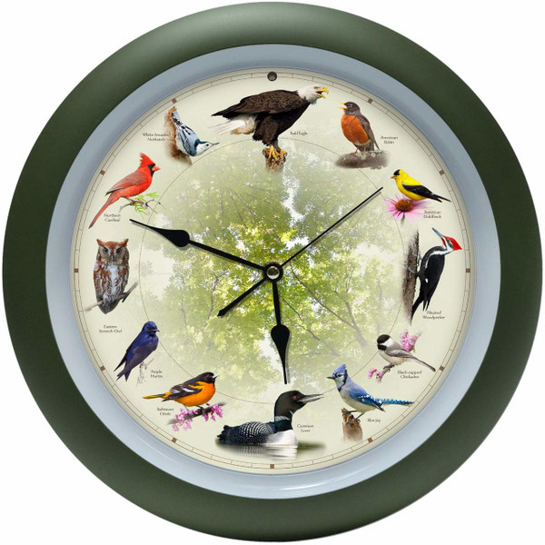 Limited Edition 20th Anniversary Singing Bird Clock, 13 Inch