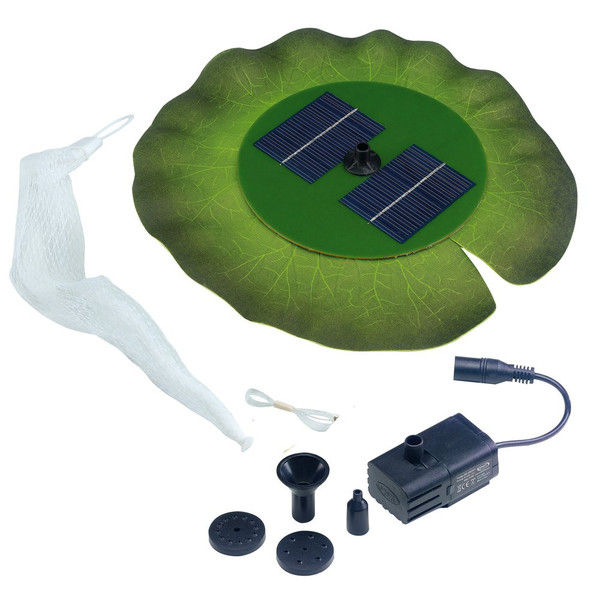 Floating Solar Soft-Lily Fountain