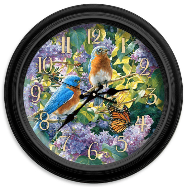 Spring Interlude 16 in. Decorative Wall Clock