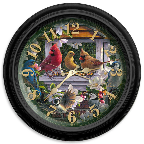 Reflective Art Springtime Melody Classic Clock, 16 Inch
