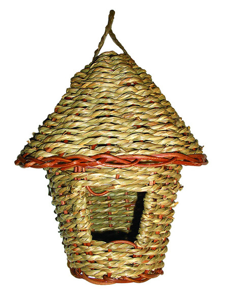 Woven Rope Roosting Pocket with Roof